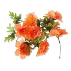 Basil Peony Flower Garland virágos girland dísz kosárra, narancs
