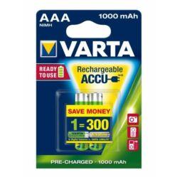 Varta AAA mikro ceruza akkumulátor, 1000 mAh, 2 db
