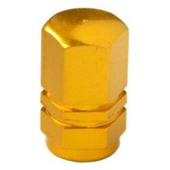 Hatszögletű alumínium szelepsapka, autó szelepes, arany