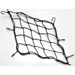 Csomagrögzítő háló kosárra, csomagtartóra 40x40 cm