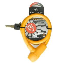 Velotech kulcsos sodronyzár, 12 mm x 65 cm, narancs
