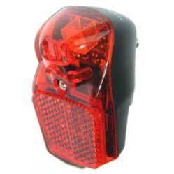 Velotech Retro 1 LED-es dinamós hátsó lámpa sárvédőre, 0,2W, piros