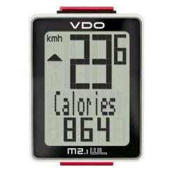 VDO M2.1 WL kerékpár komputer, vezeték nélküli, fekete