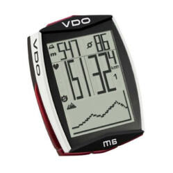 VDO M6 WL kerékpár komputer, vezeték nélküli, pulzus- és pedálfordulat mérős, fekete