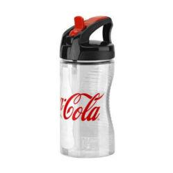 Elite Bocia Coca-Cola műanyag gyerek kulacs (66 mm) 350 ml, csavaros átlátaszó