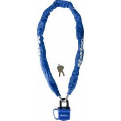 Master Lock 8390 láncos lakat, 90cm x 6mm, kék