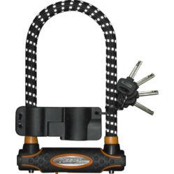 Master Lock U-lakat 210 x 110 x 13 mm, fekete, reflexcsíkos