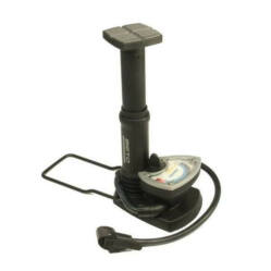Beto nyomásmérős műanyag lábpumpa, minden szeleptípushoz, fekete