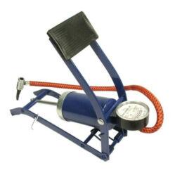 Neuzer nyomásmérős acél lábpumpa, 7 bar,  autószelephez, fekete