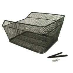 Neuzer fém kosár hátsó csomagtartóra, 38x29x20 cm, sűrű szövésű, fekete