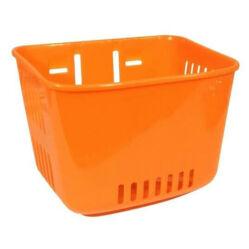 Neuzer műanyag első kosár gyerek kerékpárra, narancs