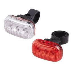 Jing Yi 3 LED lámpa szett, ( első és hátsó), elemekkel