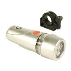 Jing Yi JY-808 5 LED elemes első lámpa, elemek nélkül, ezüst