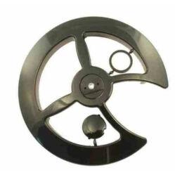Prowheel Poycarbonat hajtóművédő tárcsa küllős, 46-48 fog, fekete