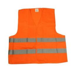 Láthatósági fényvisszaverő mellény, narancs, XL-XXL