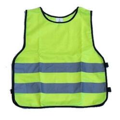 Láthatósági fényvisszaverő mellény gyerekeknek (2-5 év), sárga, S-M
