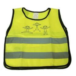 Láthatósági fényvisszaverő mellény gyerekeknek (2-5 év), sárga, XS-S
