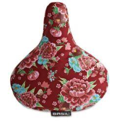Basil vízálló nyereghuzat, 280 x 230 mm, piros, virágmintás