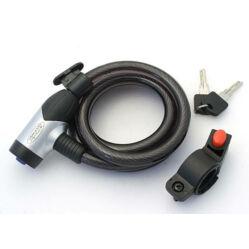 Altrix -Basic kulcsos sodronyzár, 150 cm x 12 mm, porvédős, vázkonzollal, füst színű