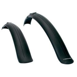 Longus Universal felpattintható műanyag sárvédő szett, 24-26 colos kerékpárokhoz, fekete