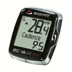 Sigma 16.12 vezeték nélküli kerékpár komputer, pedálfordulat mérős, fekete