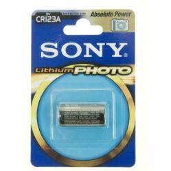 Sony CR123A Lithium fotó elem, 1 db