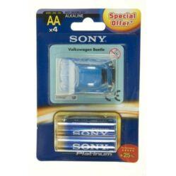 Sony Stamina PIlatinum AA ceruza elem - 4 db + kisautó