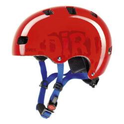Uvex Kid 3 Dirtbike junior bukósisak, 55-58 cm, piros