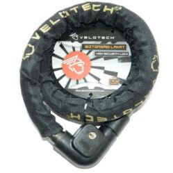 Velotech kulcsos görgős zár 22 x 1500 mm, fekete