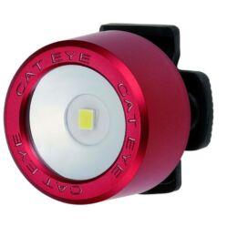 Cateye Nima TL-LD130F gumipántos első villogó lámpa, 1 LED, matt piros