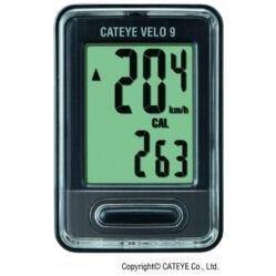 Cateye Velo 9 CC-VL820 vezetékes kerékpár komputer, fekete