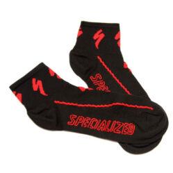 Specialized Coolmax Solo zokni, fekete-piros, M-es (43-46)