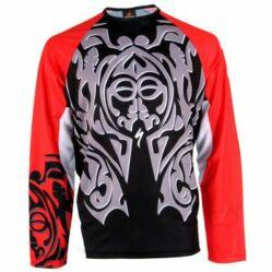 Specialized Terra Maori férfi hosszú ujjú mez, fekete-piros-fehér, XXL-es