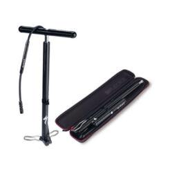 Specialized Air Sport Twin Head acél műhelypumpa, 11 bar, minden szeleptípushoz, fekete