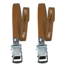 Zefal Christophe bőr klipsz szíj, 370 mm, párban, sötétbarna