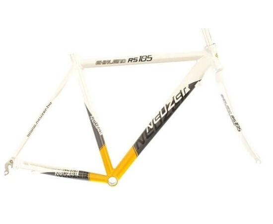 Neuzer Whirlwind RS 105 országúti kerékpár váz és villa szett, fehér-sárga-fekete, 52cm
