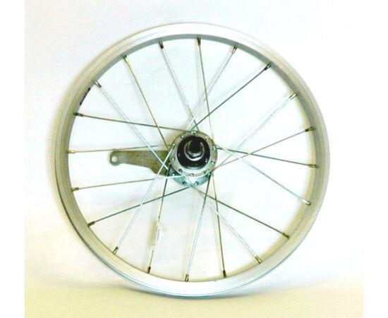 """Hauser 16"""" hátsó kerék, csavaros tengellyel, kontrafékes, ezüst"""