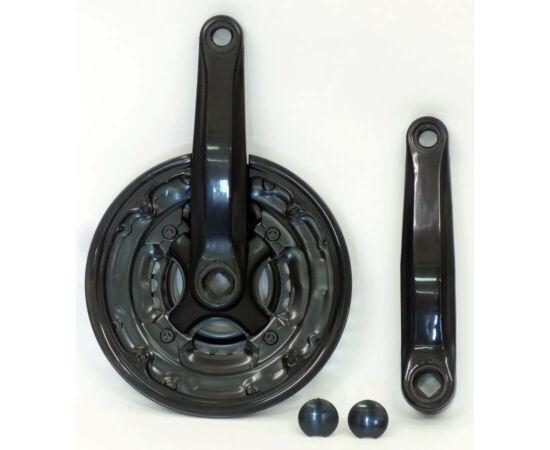 Hauser négyszög tengelyes MTB hajtómű 24-34-42 170mm, fekete