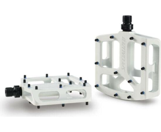 Specialized Bennies alumínium platform pedál, ipari csapágyas, cserélhető tüskés, fehér