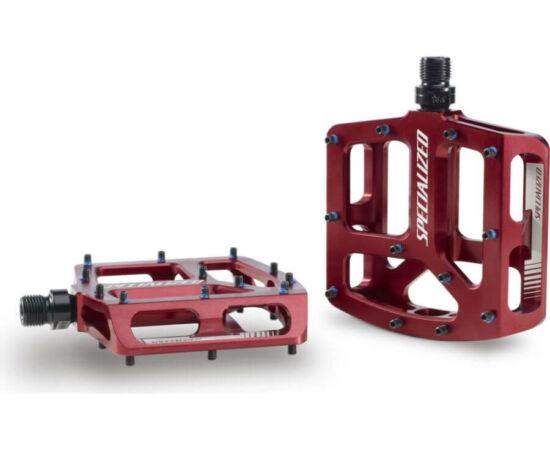 Specialized Bennies alumínium platform pedál, ipari csapágyas, cserélhető tüskés, piros