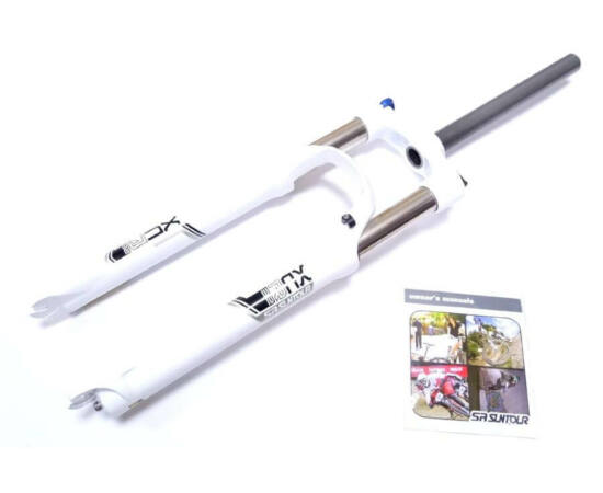 Suntour XCR32-LO 29-es MTB teleszkóp, A-Head nyakkal, 100 mm, fehér