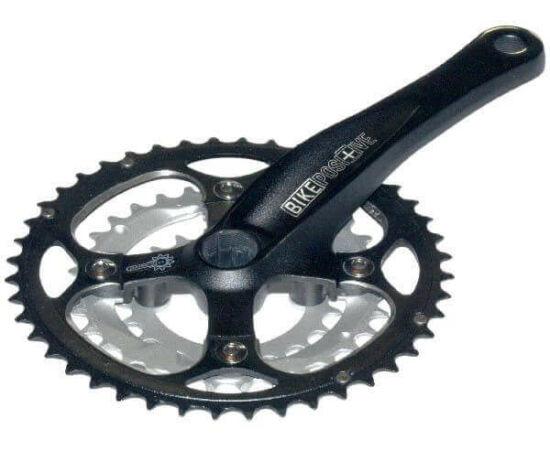 Bike Positive Mount Shasta ISIS tengelyes MTB hajtómű, 22-32-44T, alumínium lánckerekekkel, fekete