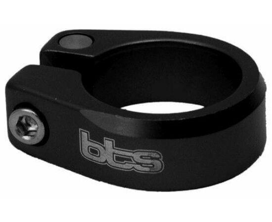 BTS csavaros nyeregcső bilincs, 29,8 mm, fekete