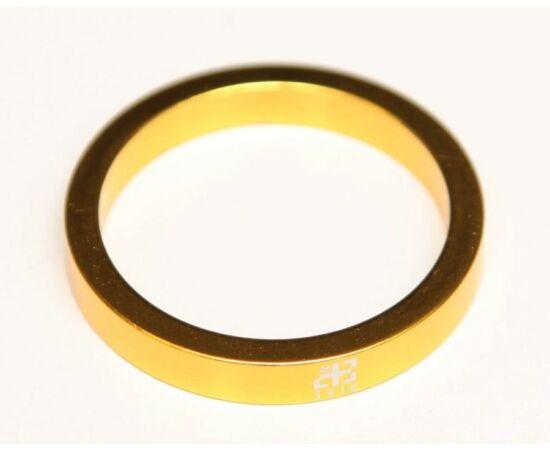 """Bike Positive 28,6 x 5mm (1 1/8"""") kormányszár alátét (stucni hézagoló), alumínium, arany színű"""