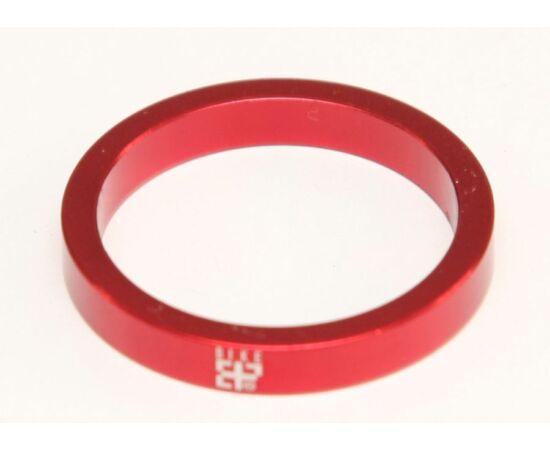"""Bike Positive 28,6 x 5mm (1 1/8"""") kormányszár alátét (stucni hézagoló), piros"""