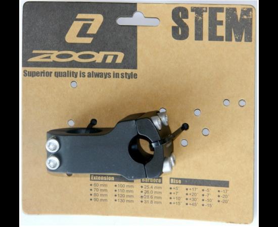 Zoom BMX kormányszár 22,2x50 mm fekete