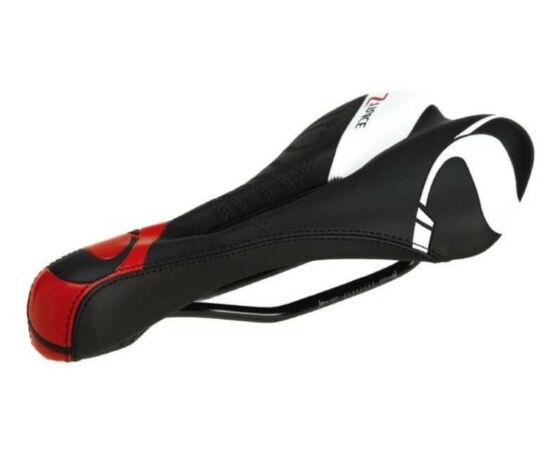 DDK Race Z3 nyereg 275 x 135 mm fekete-piros-fehér