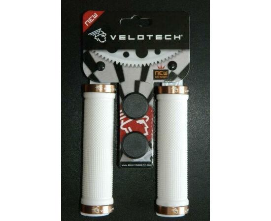 Velotech bilincses markolat, 130 mm, fehér, pezsgő színű bilinccsel