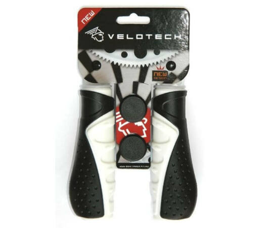 Velotech ergonomikus markolat, 135 mm, fekete-fehér