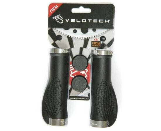Velotech ergonomikus, bilincses markolat, 130 mm, fekete, szürke bilinccsel